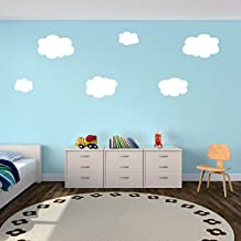 Clouds Wall Decals Nursery Decorations White Clouds Set of 6 Easy Apply - Katazoom Wall Decals