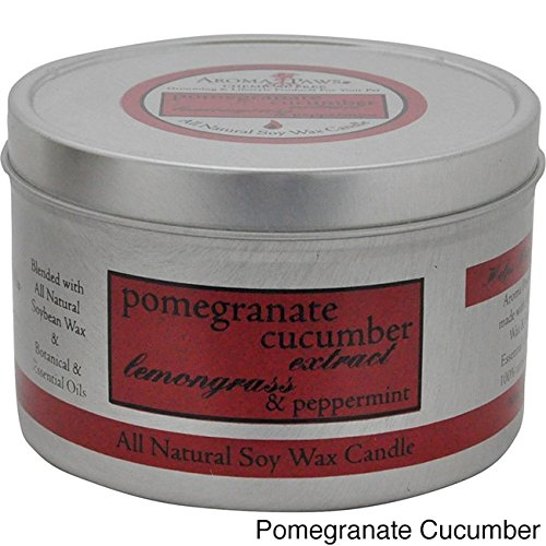 n Candle, 8-Ounce, Pomegranate Cucumber (Pomegranate Pillar Candle)
