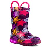 Chillipop Children's Light Up Rain Boots, Little Kids & Toddlers, Boys & Girls