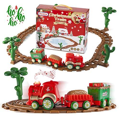 Prextex Kids Christmas Train Around The Tree Musical Christmas Train