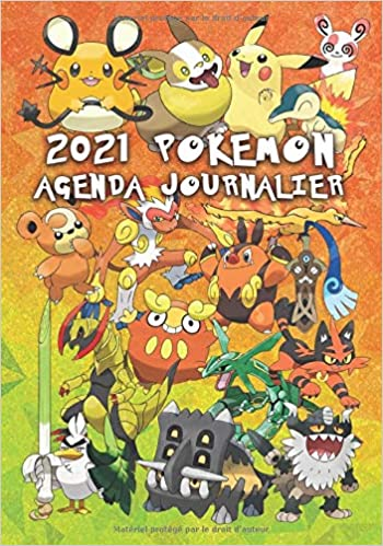 Amazon.com: 2021 Pokemon Agenda Journalier: Cahier Organisateur de