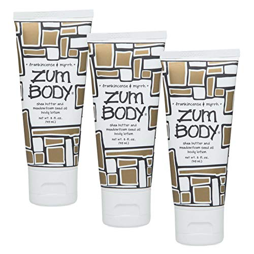Indigo Wild Zum Body Lotion, Frankincense & Myrrh, 2 fl oz (3 Pack) ()
