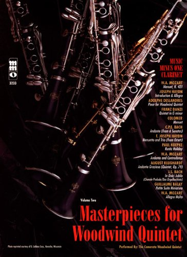 Masterpieces for Woodwind Quintet - Volume 2 (Music Minus One (Numbered)) ebook
