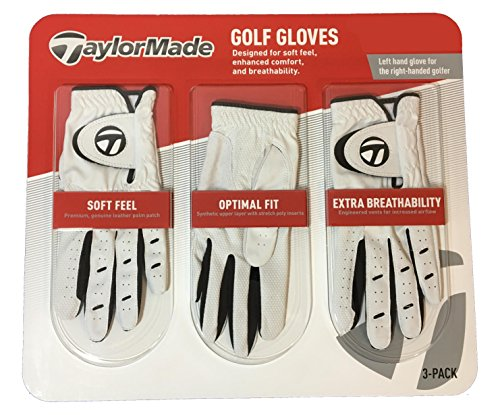 TaylorMade Men's Golf Gloves, Leather Palm Patch, 3 Pack – DiZiSports Store