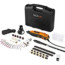 Tacklife RTD35ACL Advanced Multi-functional Rotary Tool Kit with 80 Accessories and 4 Attachments Variable Speed for Around-the-House and Crafting Projects