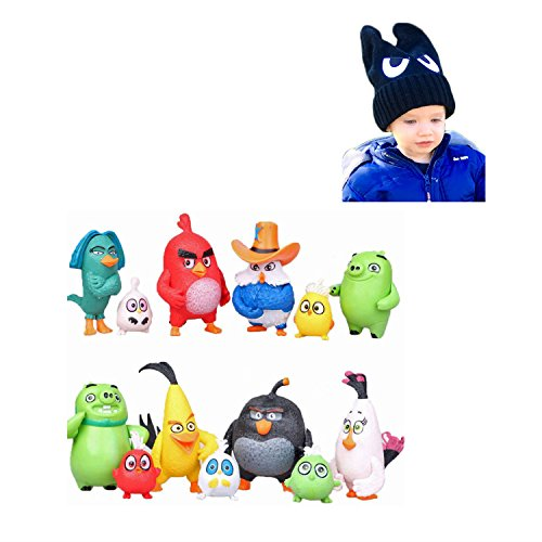 Angry-Birds-Toys-Bundle-Includes-Action-Figures-13-Pcs-Plus-Novelty-Hat