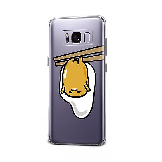 new style 26eba f1cfa Amazon.com: GSPSTORE Galaxy S8 Plus Case Gudetama Cartoon Lazy Eggs ...