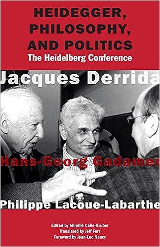 Heidegger and Politics The Heidelberg Conference Philosophy