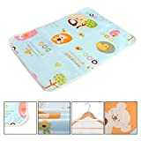 KIDSONE Portable Baby Diaper Changing Pad, Breathable Waterproof Underpads Changing Mat for Baby Boys Girls (B, 60x75cm)