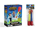 Stomp Rocket Ultra Rocket with Ultra Rocket Refill Pack, 6 Rockets - Outdoor Rocket Toy Gift for Boys and Girls Ages 6 Years and Up - Comes with Toy Rocket Launcher