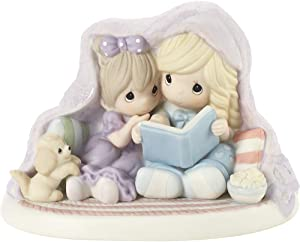Precious Moments 201029 Nestled in Christmas Bliss Bisque Porcelain Figurine, One Size, Multicolored