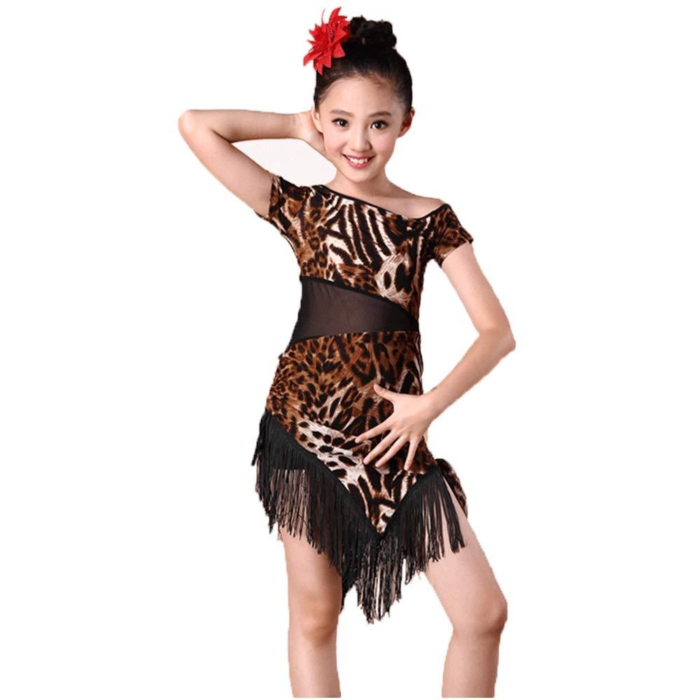 YONGMEI Disfraz de Baile Latino, Falda con Flecos, Traje de ...