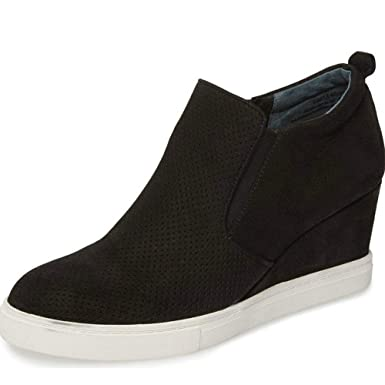 bd827a3ece Image Unavailable. Image not available for. Color: Womens Wedge Platform Sneakers  Ankle Booties Heel Zipper Faux Leather Comfort Casual Shoes