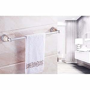 ZXC Bathroom racks 60cm baño sin Perforado Colgante, Toallas, Toallas de Ducha, Barras, cerámica única Capa única Colgador de Toallas,Estilo 1: Amazon.es: ...