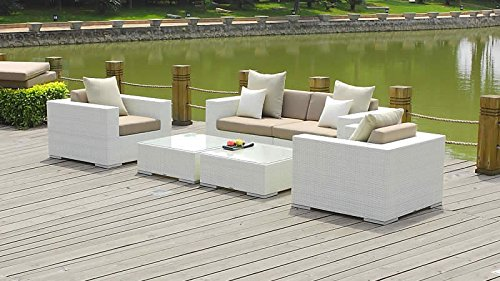 talfa polyrattan gartenm bel lounge tapa wei g nstig kaufen. Black Bedroom Furniture Sets. Home Design Ideas