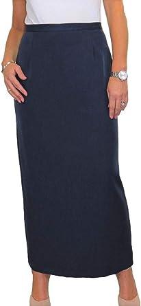 ICE Falda Larga Larga Elegante para Mujer, Falda A Medida De Oficina De Longitud Completa con Forro Completo para Mujer Día Noche