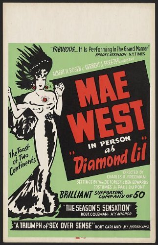 - Photo: Mae West in person as Diamond Lil,Poster,1951
