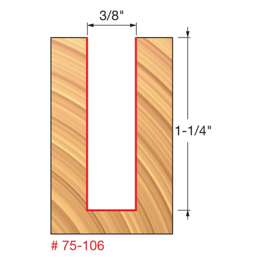 Freud 75-110 1//2-Inch Diameter by 1-5//8-Inch Height 2 Flute Up Spiral Route
