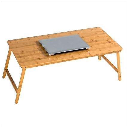 Deawecall - Mesa Plegable para Ordenador portátil con Cama pequeña Dormitory de Escritorio Simple,