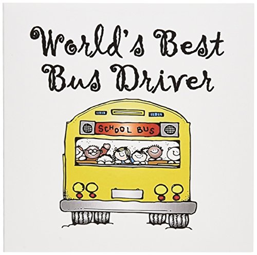 Note Driver Cards - Worlds Best Bus Driver. - Greeting Cards, 6 x 6 inches, set of 6 (gc_193351_1)