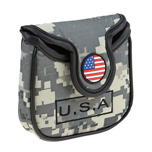 - SM SunniMix USA American National Flag Golf Square Mallet Putter Head Cover Headcover Equipment Gift for Golf Lover