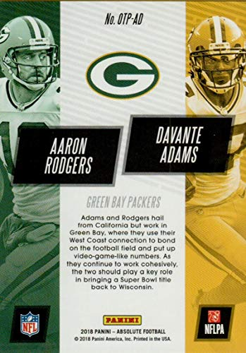 Amazon.com: 2018 Absolute One Two Punch #9 Aaron Rodgers ...