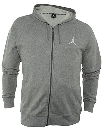 Jordan Nike Mens Lite Full Zip Hoodie, H Grey, XL