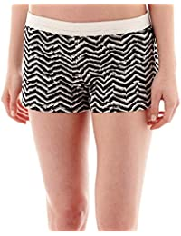 Soffe Low-Rise Animal Chevron Print Shorts Juniors Size XS