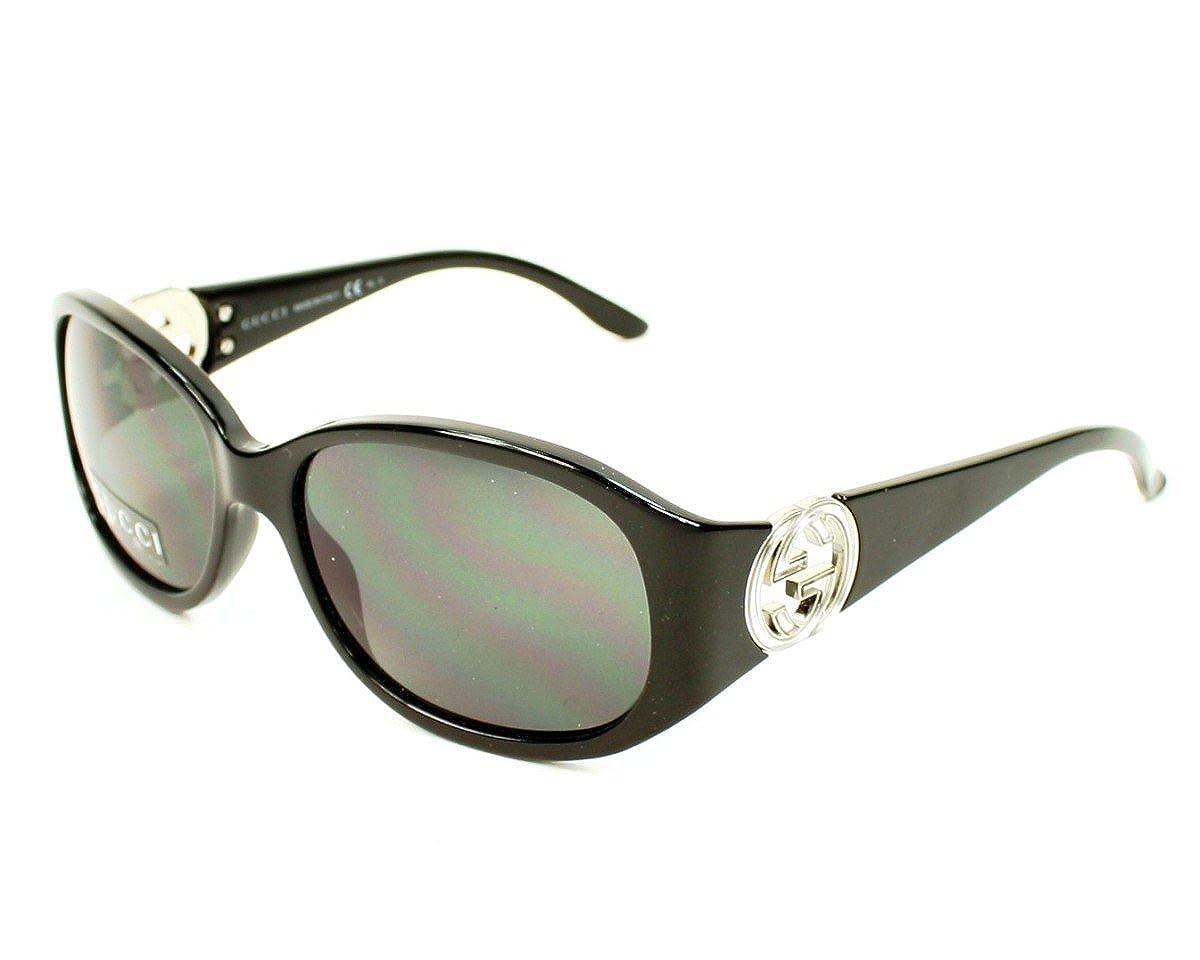 5858ffb12bbaf Gucci Sunglasses GG 3140  S D28R6 Acetate plastic Optyl Black Gradient grey  black  Amazon.co.uk  Clothing