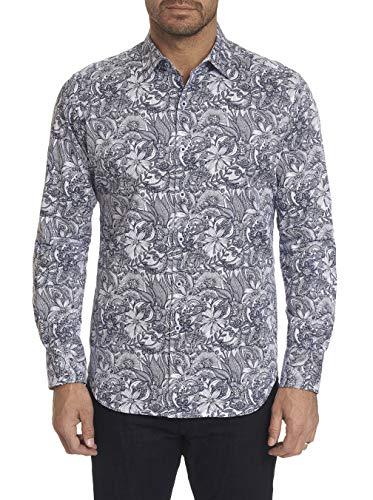 Robert Graham Summer Breeze L/S Printed Sport Shirt Classic Fit White Medium - Paisley L/s Shirt