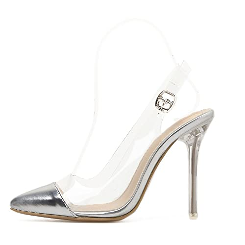 f0a9d52bf0c Shoe tale women lucite clear ankle strap stiletto high heel pointed  gladiator sandals heeled sandals jpg