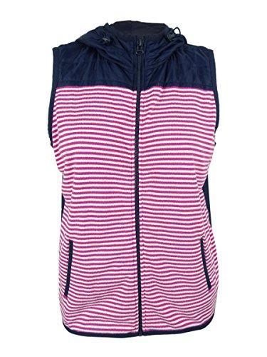 Tommy Hilfiger Women's Hooded Striped Vest & Bag Set (L, Rose Violet)