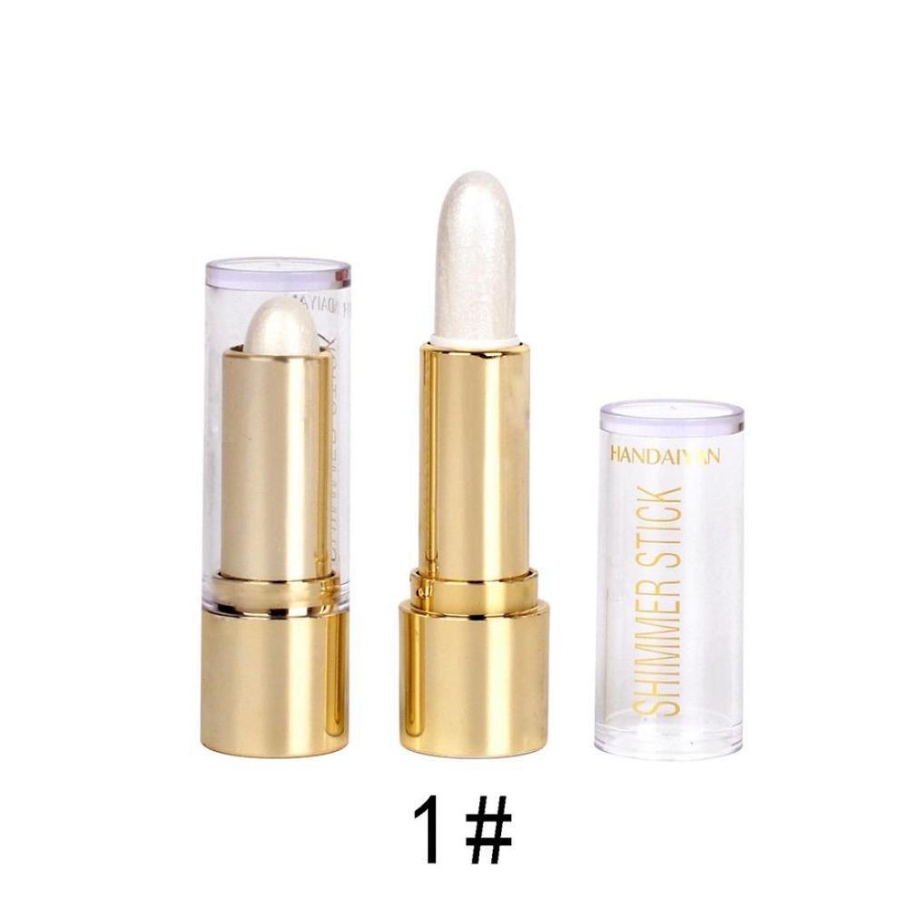 FTXJ Bright Highlighter Paste Pen Makeup Face Bronzers Concealer Dark Circles Stick (White)