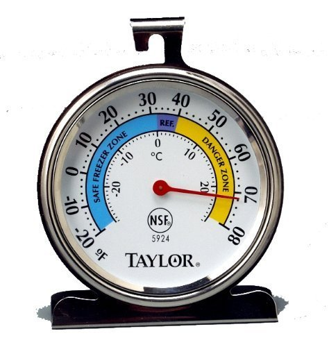 Price comparison product image Taylor Precision Products Classic Series Large Dial Thermometer (Freezer / Refrigerator) - Set of 2
