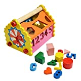 shumee-toys revisited Wooden Number & Shape Sorting House (1.5 Years+) - Addition, Subtraction & Time-Telling
