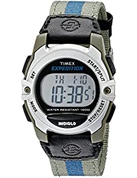 Unisex T49958 Expedition Mid-Size Digital Watch with Multicolored Nylon Band
