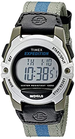 Timex Unisex T49958 Expedition Mid-Size Digital Watch with Multicolored Nylon Band (Chrono Watch Sport)