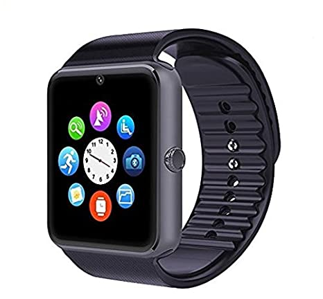 GT08 Bluetooth Smart Watch with SIM Card Slot and NFC Smart Health Watch for Android(Full functions) and IOS(Partial functions) Bracelet Smartwatch ...