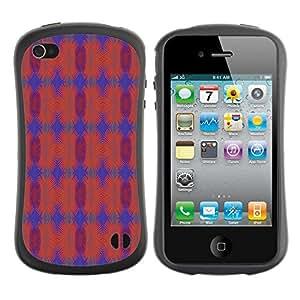 DesignCase Premium TPU / ABS Hybrid Back Case Cover Apple iPhone 4 / 4S ( amazing pattern )