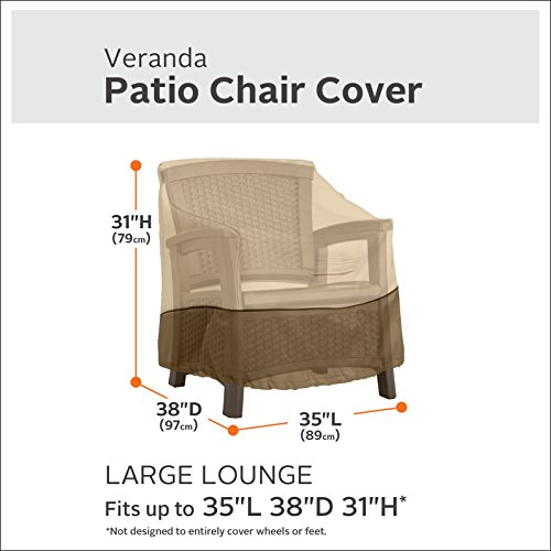 Classic Accessories 70912-2PK Veranda Patio Lounge Chair Cover, Large (2-Pack) by Classic Accessories (Image #2)