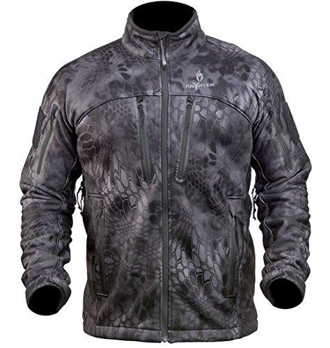Kryptek Men's Waterproof Cadog Shield Jacket, Typhon, - Active Jacket Duck Fleece