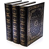 Bellagio-Italia Olde World Persian DVD, CD Book Box 3 pack - holds 144 Discs