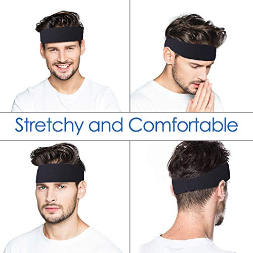 Sport Stirnbänder für Herren und Damen 3 Packs - Schweißband & Sport Stirnband Feuchtigkeitstransport Workout Schweißbänder für Laufen, Cross Training, Yoga und Fahrradhelm