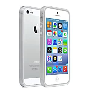 Moon Monkey Lightweight Ultra-thin Soft Bumper Protective Frame Slim Case for Iphone 5 5s (MM394) (Silver)