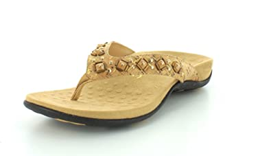 ffc7ead27202 Vionic Women s Rest Floriana Toepost Sandal - Ladies Flip Flops with  Concealed Orthotic Support Gold Cork