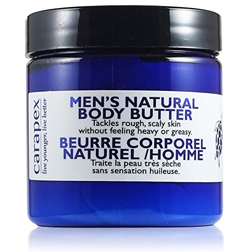 Carapex Natural Body Butter for Men, for Extreme Dryness, Extra Dry Skin, Deep Moisturizer, Unscented with Jojoba, Beeswax (Body Touch Butter)
