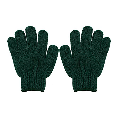 Bath Accessories Bathing Gloves, Forest Green