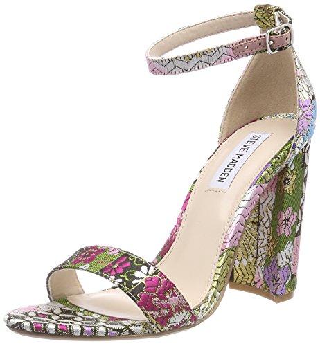 Steve Madden Carrson (Fabric), Sandali con Cinturino alla Caviglia Donna Multicolore (Bright Multi 16004)