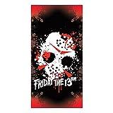 Factory Entertainment Friday The 13th Jason Mask Beach Towel Novelty