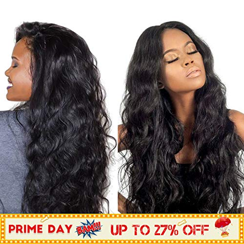 360 Lace Frontal Wigs with Pre Plucked Baby Hair 18inch Human Hair Wig for Black Women Body Wave Human Hair Wigs 150% Density